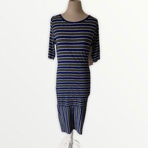 Lularoe Julia tshirt dress striped